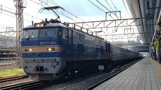 【JR貨物】8561レ キハ261系 川重出場甲種輸送 高槻・京都駅にて