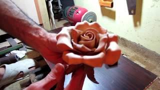 Резьба по дереву - Роза (Ручная Работа)