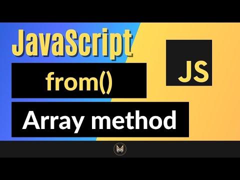 JavaScript from Method - Complete JS Array Methods Series