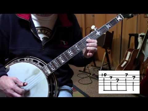 """Silent Night"" for Five (5) String Bluegrass Banjo"