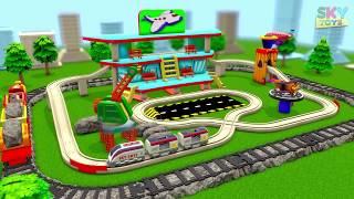 Trains for Children cartoon - BRIO TRAIN CARTOON - SKY TOYS - chu chu train CARTOON