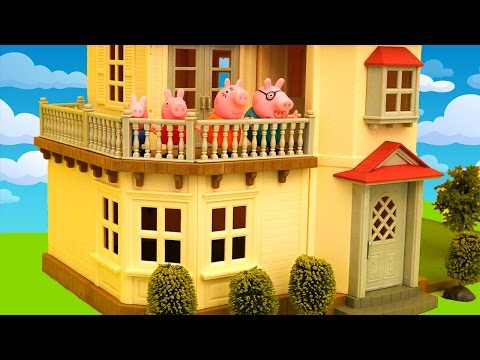 Beautiful Dollhouse ! Toys and Dolls Fun Pretending Peppa Pig Doesn't Want to Move to New House