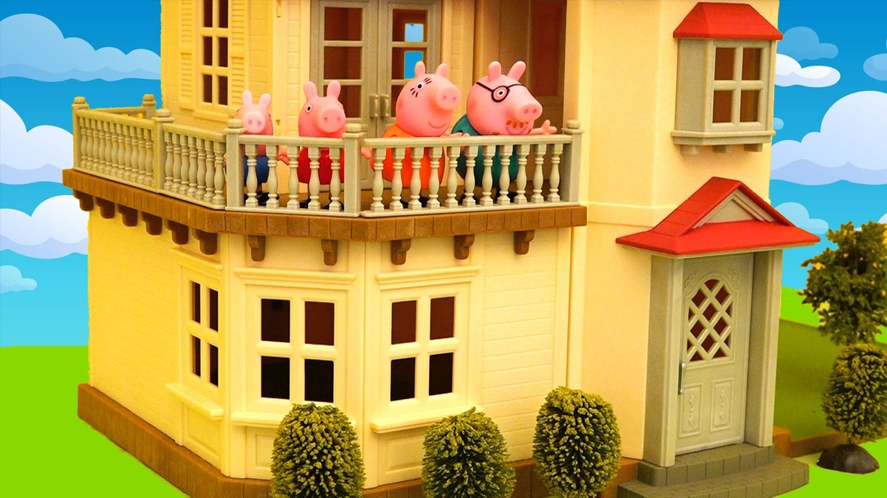 Beautiful Dollhouse Toys And Dolls Fun For Kids Peppa Doesn T Want