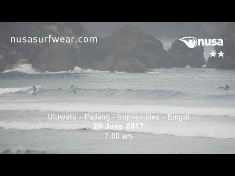 20 - 06 - 2017 /✰✰ / NUSA's Daily Surf Video Report from the Bukit, Bali.