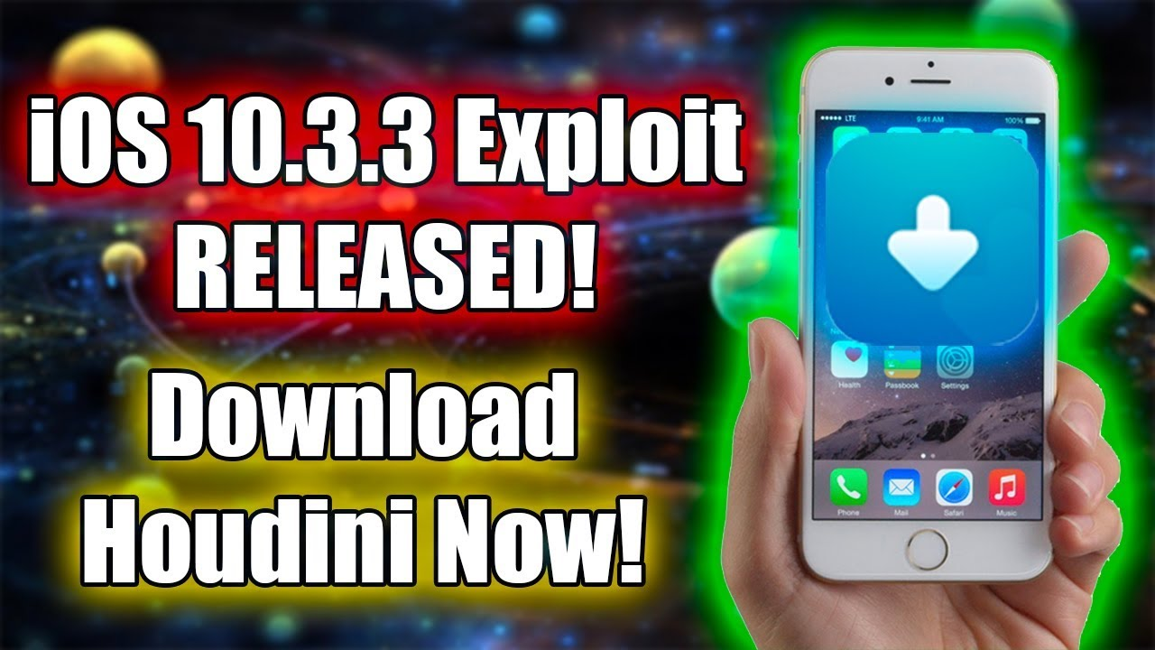 iOS 10 3 3 EXPLOIT RELEASED AND HOUDINI APP! DOWNLOAD IT NOW!