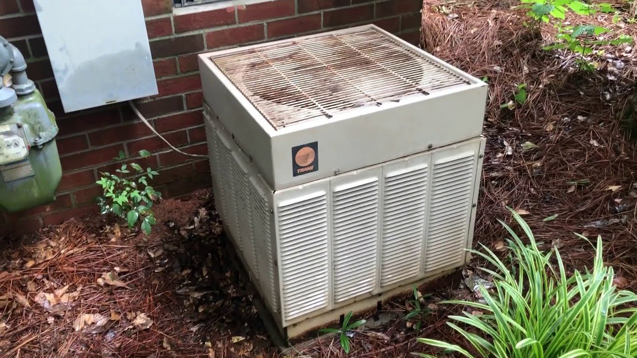 Old Trane Ac Unit Still Working After 34 Years Youtube