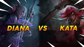 DESTROYING KATARINA AS DIANA - BATTLE QUEEN TANK DIANA - League Of Legends
