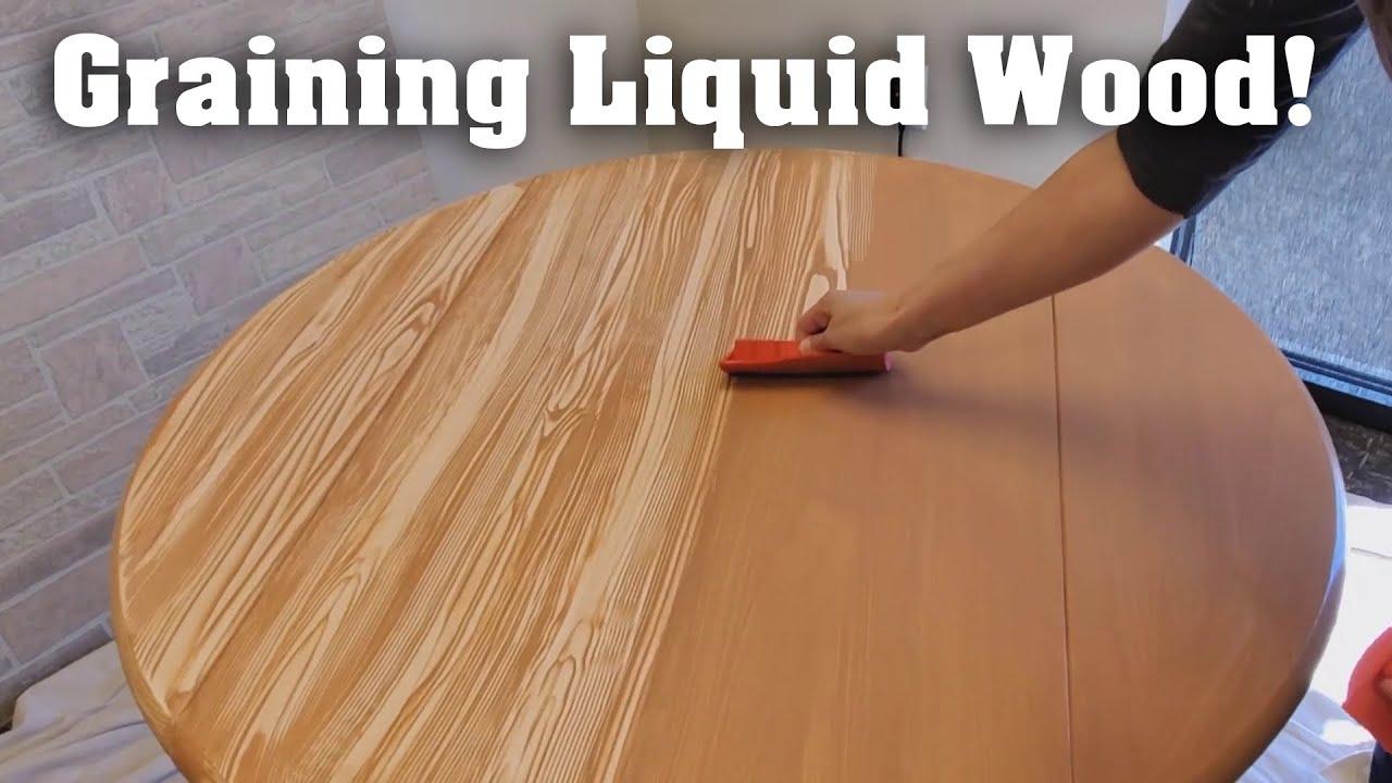 peinture relook meuble effet bois