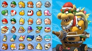 Santa Bowser in Mario Kart 8 (Star Cup)
