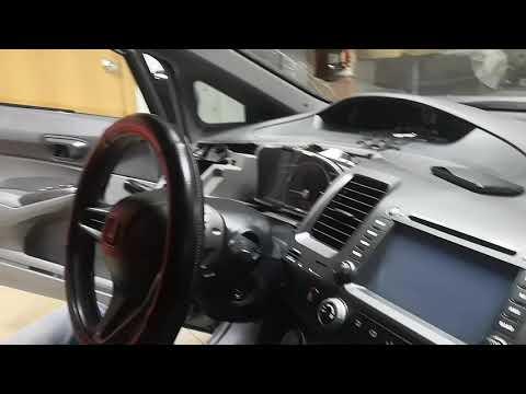 Как снять/демонтировать магнитолу Honda Civic 4D