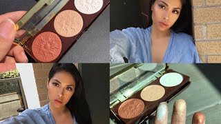 Physicians Formula Bronze Boosting Highlight amp Contour Palette Review amp Try On Shimmer Strobing