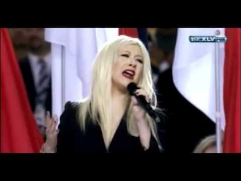 Christina Aguilera Messes Up Sings Wrong Words Superbowl National Anthem Lyrics