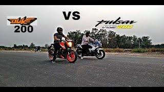 KTM DUKE 200 VS Pulsar RS 200 | Drag Race