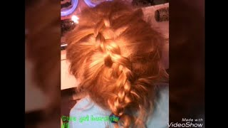 Как заплести обратную французскую косу.How to do a reserve french braid.Cute girl hairstyle #5.