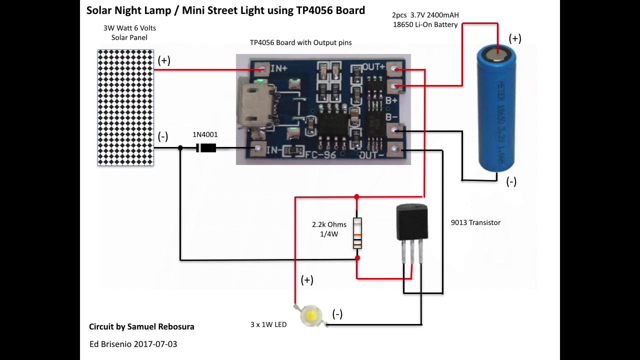 medium resolution of diy simple solar night lamp mini street light using tp4056 board