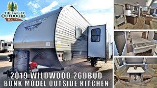 2019 WILDWOOD 26DBUD Rear Bunk Model Outside