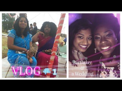 Vlog # 1: Birthday Shindig and a Hindu wedding