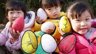 공룡알 서프라이즈 에그 숨바꼭질 장난감 숫자놀이| 보라조이|surprise eggs Numbers Counting | LimeTube & Toy 라임튜브