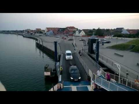 Denmark. Esbjerg - Fanø ferry - . View of the Fano island, Nordby town.