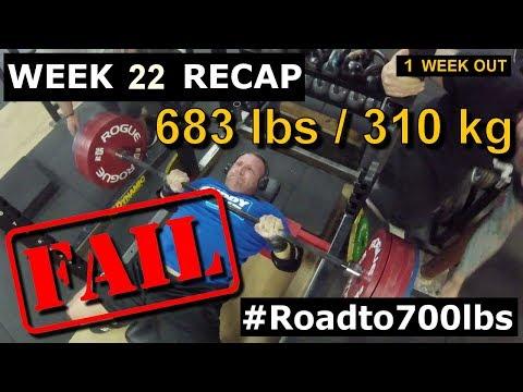 683 lbs / 310 kg BENCH PRESS FAIL