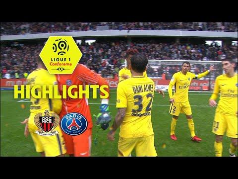 OGC Nice - Paris Saint-Germain ( 1-2 ) - Highlights - (OGCN - PARIS) / 2017-18