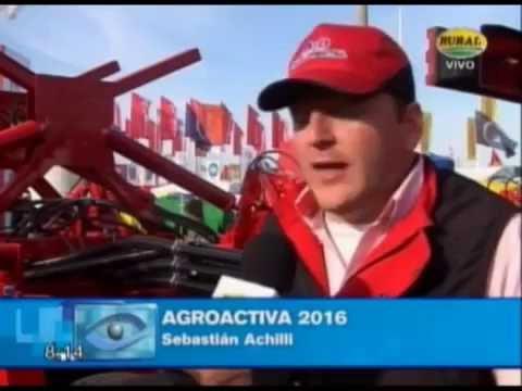 Sembradoras Monumental, testimonio de Sebastian Achilli,  Agroactiva 2016