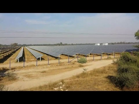 Asia's Longest Solar Power Plant Bathinda. UMB SGNR Passenger Train at MPS TKD WDP1 Indian Railway