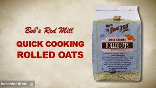Quick Cooking Rolled Oats   Bob's Red Mill