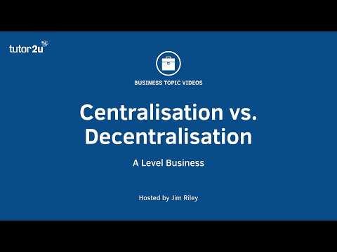 Centralised and Decentralised Decision-Making