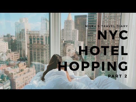 NYC HOTEL HOPPING PART 2 | NYC Hotels with Views Tour | 1 Hotel Brooklyn Bridge  & Arlo Nomad