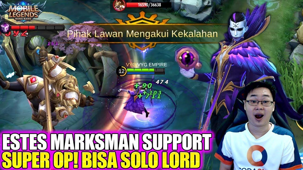 REVIEW SKIN ESTES CROW BISHOP PAKAI BUILD MARKSMAN SUPER OP BISA SOLO LORD MOBILE LEGENDS