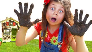 Dirty hands & Dirty playhouse | Wash your hands and playhouse in Funny kids video | Chiki-Piki