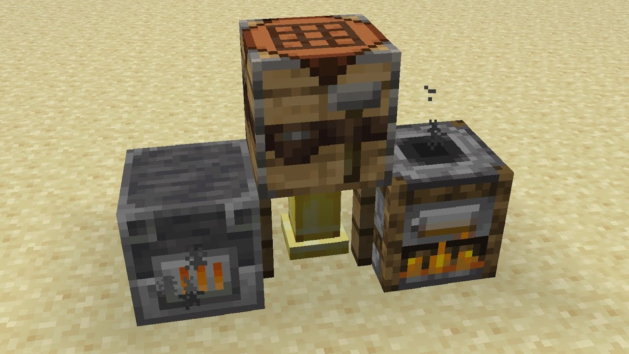New Crafting Tables Furnaces In Minecraft 1 14 Snapshot 18w44a Youtube