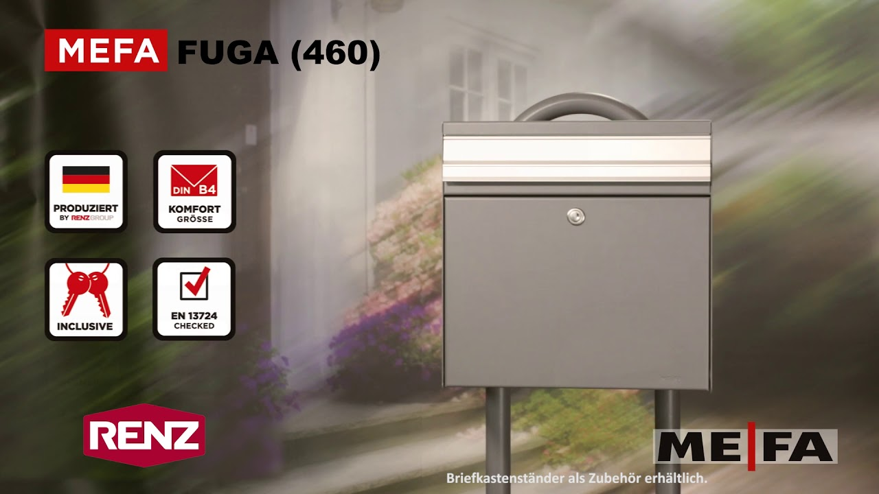 Fuga 460 Renz Mefa Briefkasten Youtube