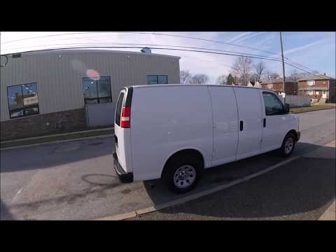 2013 White /Gray Chevrolet Express Cargo Van (1GCSGAFX9D1) with an 4.3L V6 OHV 12V engine, 4-Speed Automatic transmission, located at 577 Chester Pike, Prospect Park, PA, 19076, (610) 237-1015, 39.886154, -75.302338 - Photo #0