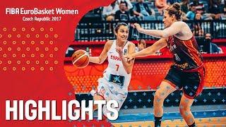 Spain v Belgium - Хайлайты - Semi-Finals - FIBA EuroBasket Women 2017