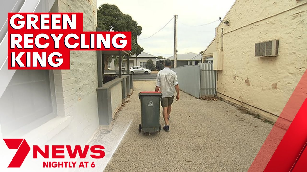 Adelaide man avoids taking out rubbish bins for more than three years with recycling tips | 7NEWS