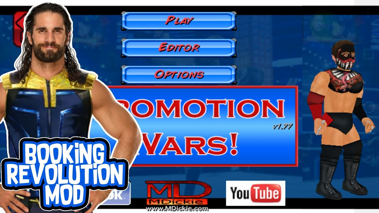 PROMOTION WARS MOD BY WRM | BOOKING REVOLUTION PRO MOD FOR ANDROID | WR2D  MOD REALISTIC | BR2D MOD