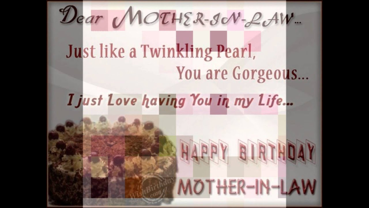 Happy Birthday My Dearest One Only Mother In Law In The Universe