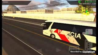 Gameplay do heavy bus  com a pintura da policia de São Paulo