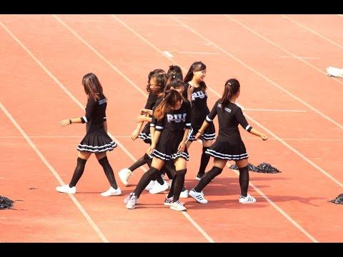 PUC Cheerleaders at RG Stadium (MZU Inter-College sports 2017)