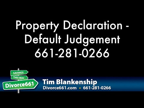 Completing A Property Declaration With Default Judgement In San Fernando