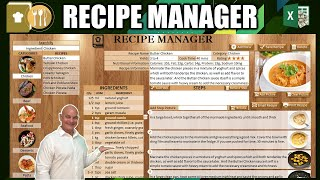How To Create Your Own Recipe Manager Application In Excel [Masterclass + Free Download]
