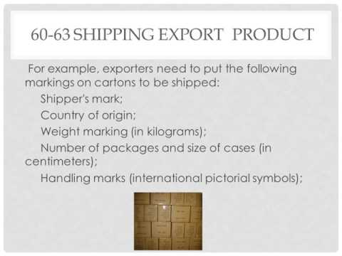 60 63 Shipping Export  Product