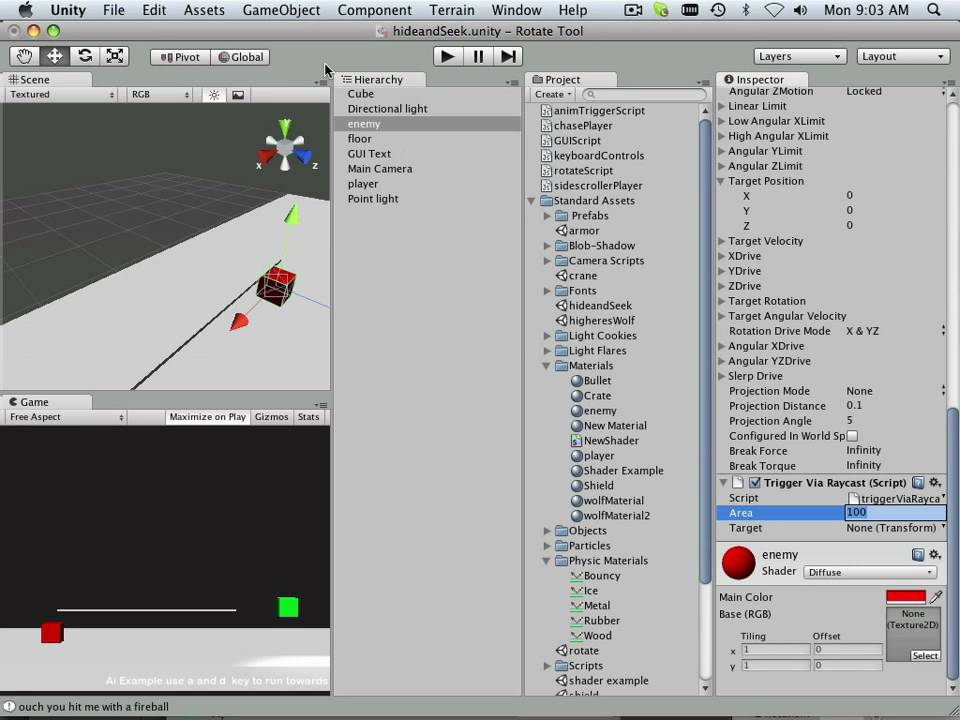 0082 Unity (Collider vs Raycast example)