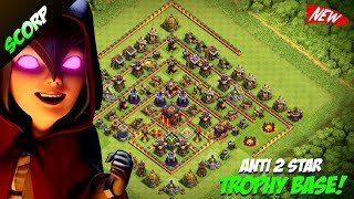 BEST TH10 Trophy Push Base | TH10 Trophy Base 2017 | Champion League | Anti 2 Star | Clash Of Clans