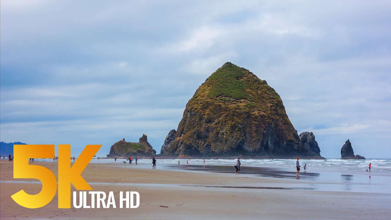 Download Pacific Northwest. Part #1 - Coastal Oregon - Views of the Ocean in 5K - 3 HOUR Relaxation Video