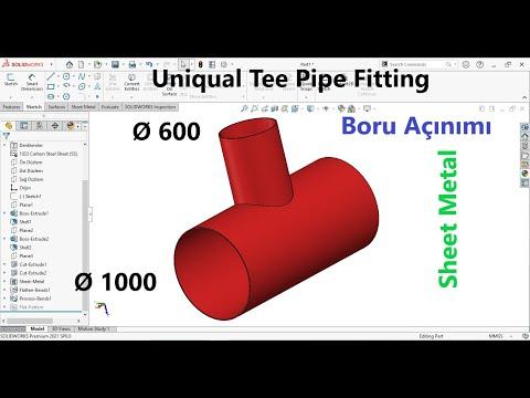Solidworks Design 3D T Pipe Modeling Tutorial