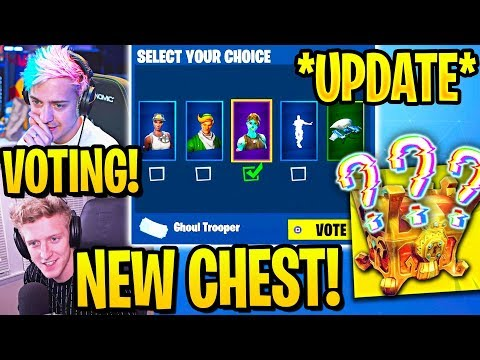 """STREAMERS REACT TO """"ITEM SHOP VOTING"""" & """"MYSTERY CHEST"""" in Fortnite"""