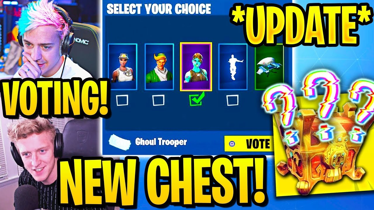 "STREAMERS REACT TO ""ITEM SHOP VOTING"" & ""MYSTERY CHEST"" in Fortnite thumbnail"